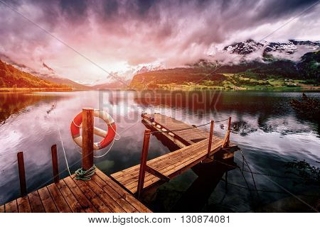 Beautiful Nature Norway natural landscape. Filter applied in post-production.