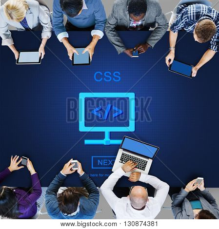 CSS Web Programming Technology Style Concept