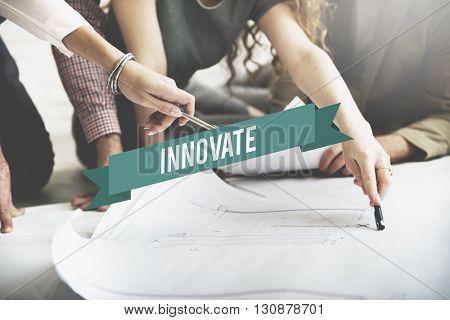 Innovate Fresh Ideas Invention Progress Concept
