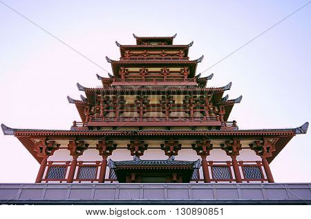 Famous shigu temple located in China, Shaanxi province , weibin district