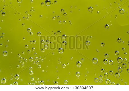Green Abstract Background With Water Drops