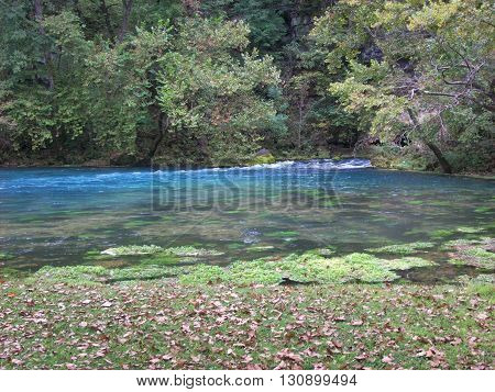 Natural Spring creating majestic views at a state park in Missouri.