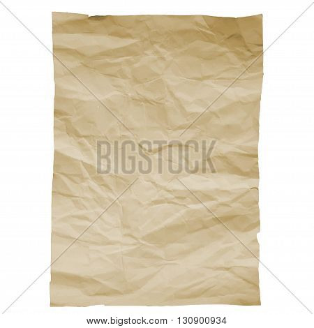 Piece of old paper on white background. Image trace. Vector illustration. EPS