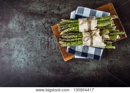 Asparagus. Raw asparagus. Fresh Asparagus.Green Asparagus. Tied asparagus in other positions.