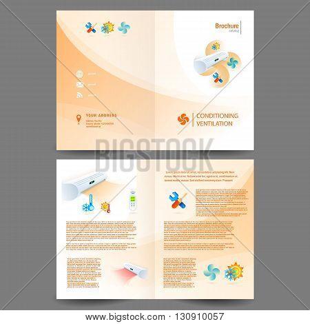 booklet catalog brochure folder air conditioner - conditioning ventilation system