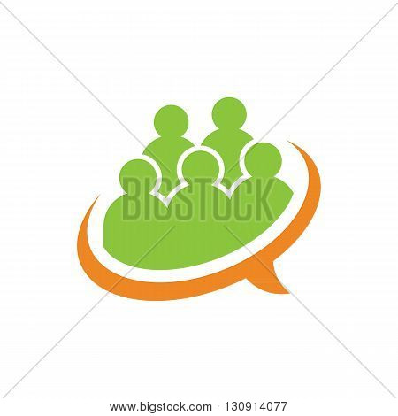 Business training and learning speaker icon vector illustration isolated on white background.