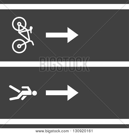 Vectro bicycle and pedestrian paths. Walking path and bike path