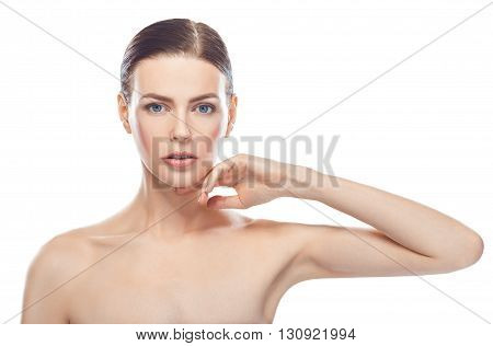 Beautiful Young Woman With Healthy Face And Clean Skin