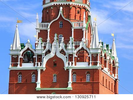 Moscow Kremlin tower built in the Byzantine style in the seventeenth century