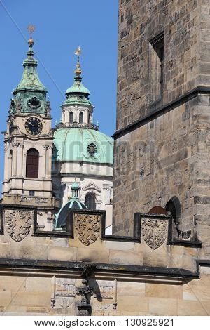 The St. Nicholas Church of Mala Strana in Prague
