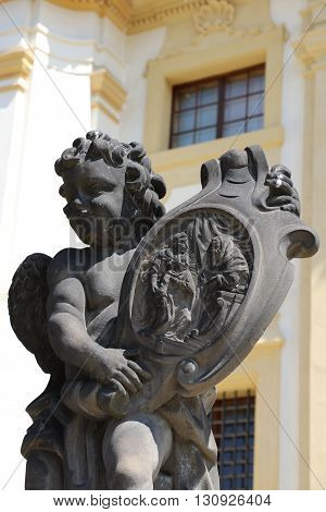 Statue of the marian pilgrimage site of Loreta in Prague poster