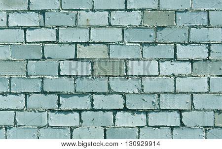 Cyan Brick Wall Texture.