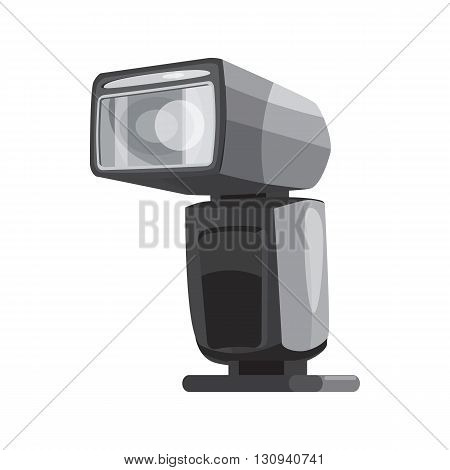 Photoflash icon in cartoon style isolated on white background. Components for photo shooting symbol