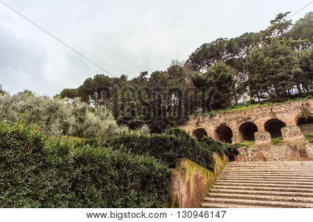 ROME - January 12: Beautiful gorgeous majestic Rome. January 12 2016 in Rome Italy.