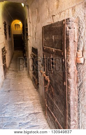 Inside the Old Prison under the Doge's Palace in Venice - Italy