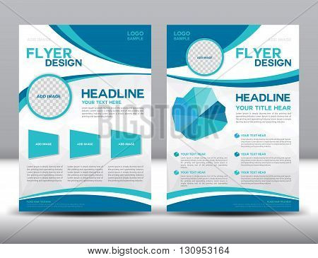 Vector Brochure Flyer design Layout template Blue brochure template cover design