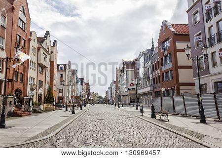 ELBLAG, POLAND - APRIL 8: Old Town in the center of Elblag on April 8, 2012 in Elblag.