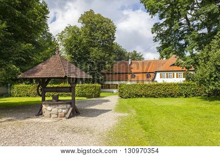 BEDOMIN, POLAND - AUGUST 14: Historic residence, which was born Jozef Wybicki on August 14, 2011 in Bedomin.