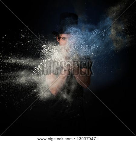 Young Magician playing with Magic Powder