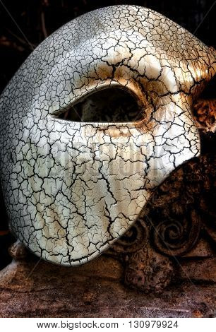 Vintage Venetian Mask with Roman Column