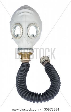 Retro Gas Mask with Hose isolated on White Background