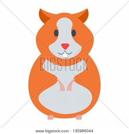 Hamster vector illustration. Hamster cartoon domestic animal isolated on white background.