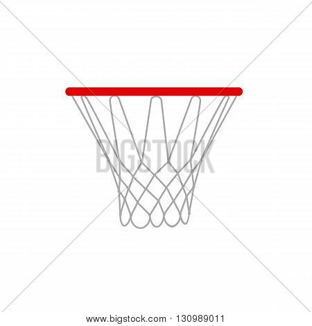 A vector illustration of a basketball rims. EPS 10. Basketball hoop vector isolated.