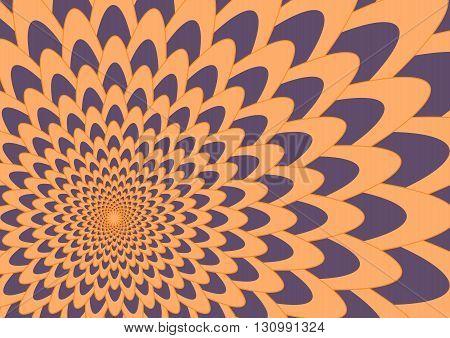 Purple and orange flower Background Vector Illustration
