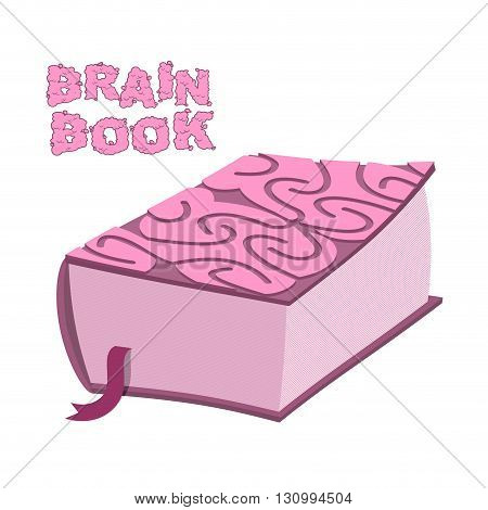Brain book. Large thick encyclopedia. Cover cerebral cortex. Brains