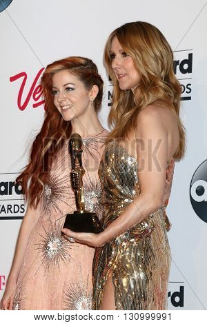 LAS VEGAS - MAY 22:  Lindsey Stirling, Celine Dion at the Billboard Music Awards 2016 at the T-Mobile Arena on May 22, 2016 in Las Vegas, NV