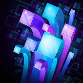 abstract background with colorful shining. Vectro illustration poster