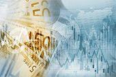 European Union Euro Money Conceptual Graphic. Forex Euro Trading poster