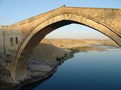 powerful stone bridge in nothern mesopotamia eastern turkey poster