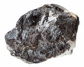 macro shooting of natural mineral stone - rock of sphalerite (zinc blende) isolated on white background poster