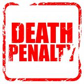 death penalty, red rubber stamp with grunge edges poster