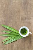Herbal tea from the leaves of the plantain poster