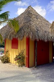 Beach Hut At Coco Cay