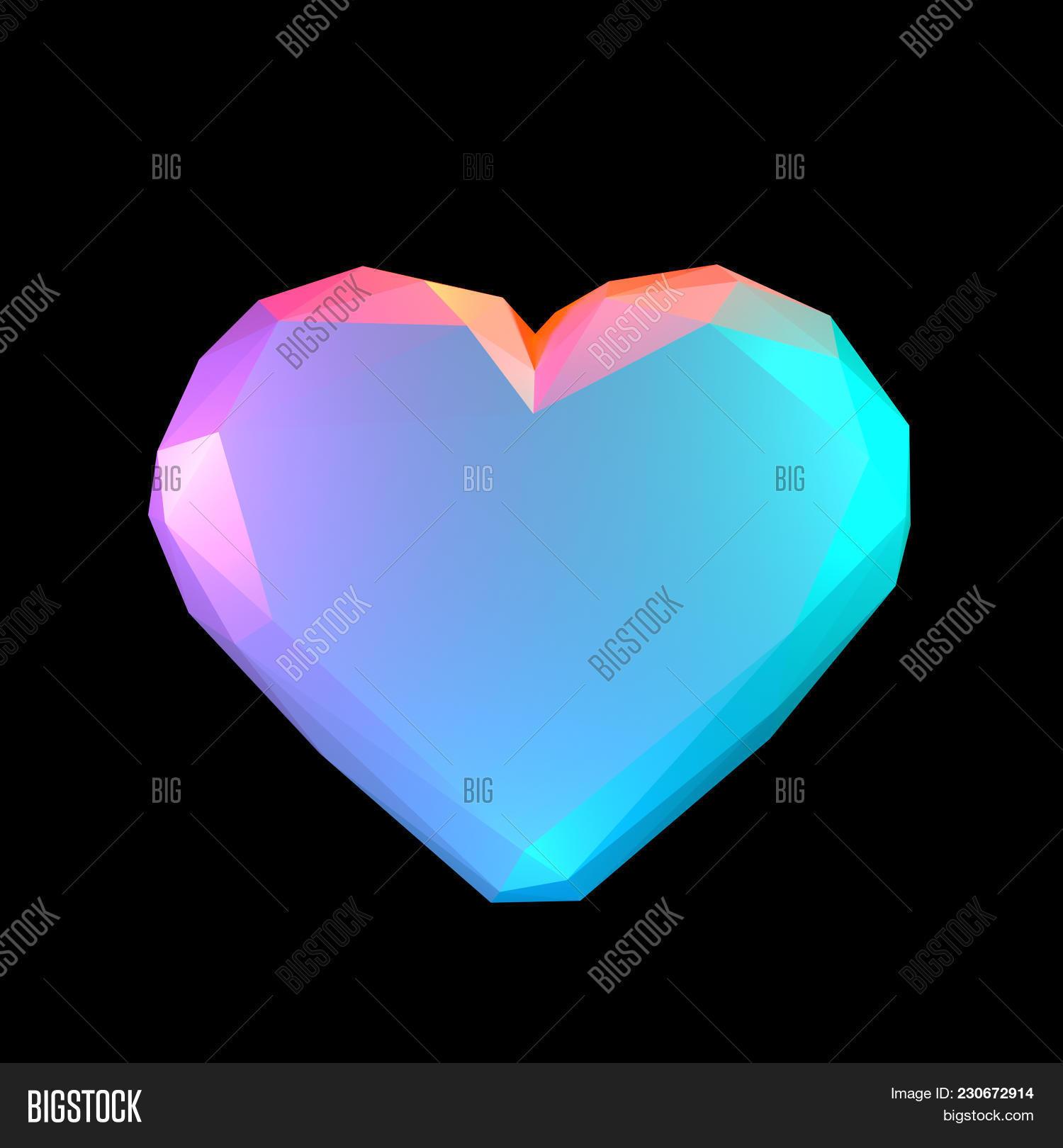 Heart On Black Image & Photo (Free Trial) | Bigstock
