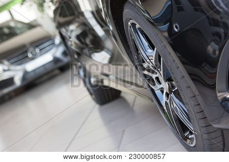 Puilboreau, France - August 7, 2016 : Closeup Of Goodyear Company Wheel Used In Mercedez-benz In Dis
