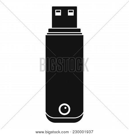Digital Flash Drive Icon. Simple Illustration Of Digital Flash Drive Vector Icon For Web