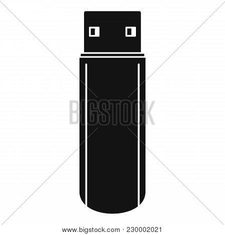 Big Flash Drive Icon. Simple Illustration Of Big Flash Drive Vector Icon For Web