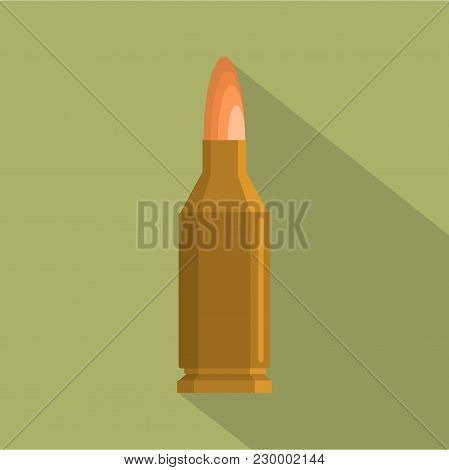 Small Cartridge Icon. Flat Illustration Of Small Cartridge Vector Icon For Web