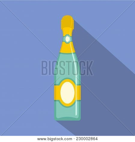 Dry Champagne Icon. Flat Illustration Of Dry Champagne Vector Icon For Web