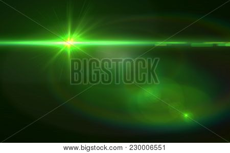 Green Lens Flare Abstract Background.design Natural Lens Flare. Rays Background