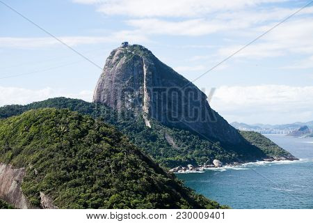 Sugarloaf Mountain Viewed From A Diferent Angle, Rio De Janeiro, Brazil