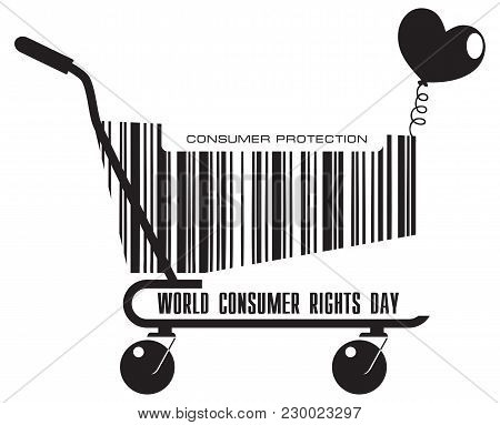Shopping Cart For World Consumer Rights Day Holiday In March