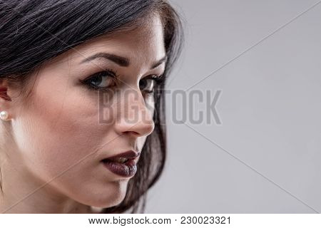 Sensual Young Woman With A Sultry Expression