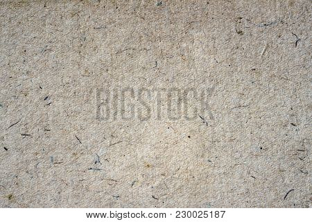 Paper Texture Organic Cardboard Background Close-up. Grunge Old Ecological Paper Surface With Cellul