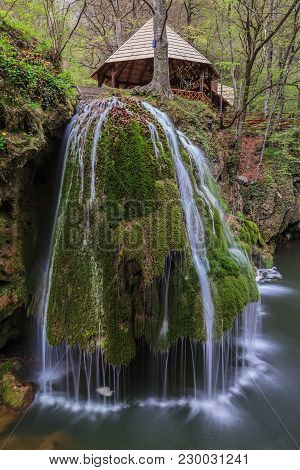Waterfall Bigar. Located At The Intersection With The Parallel 45 In Romania