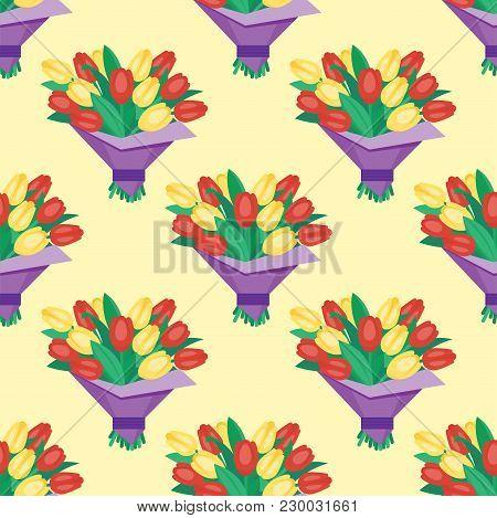 Vintage Floral Vector Bouquet Garden Flower Seamless Pattern Background. Botanical Natural Peonies I